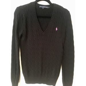 Ralph Lauren Cable V-Neck Sweater